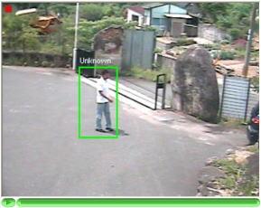 赤外線センサーとは異なり、防犯カメラに映った映像から判断