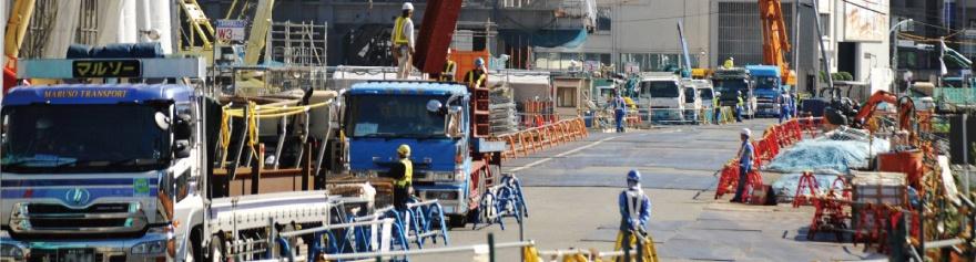 工事現場で起こる事故、盗難などの事件をカメラで見つける現場安全管理システム